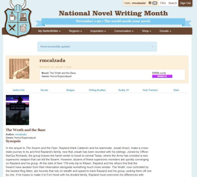 NaNo Winner Page